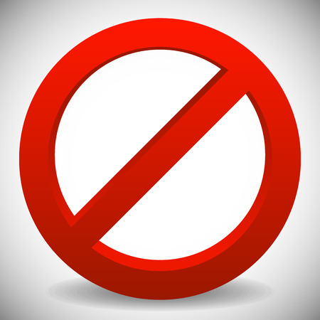 no entry: Deny, do not, prohibition sign. Restriction, no entry, no way vector graphics