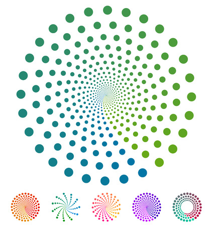 Dots pattern. Vector elements made of circles. Vector design elements, circular dotted symbols, motifs Ilustracja