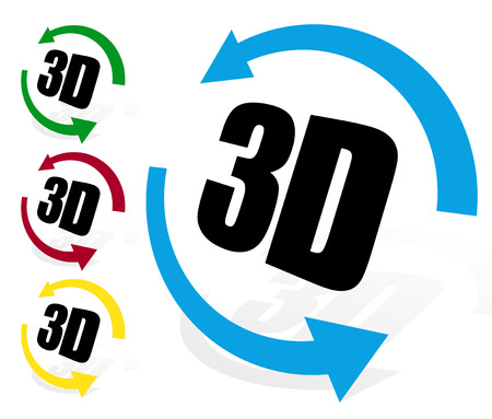 Rotate in 3d. 3d view. Virtual tour, 360 degree view element