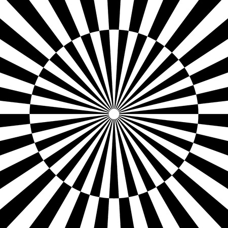 Radiating lines with checkers Vector