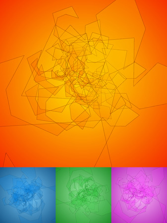 disarray: Entangled backgrounds. Colorful, trendy vector backgrounds Illustration