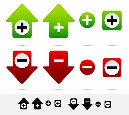 Increase, decrease. Add, remove concept Illustration