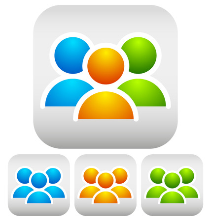 Characters, community icons Vector