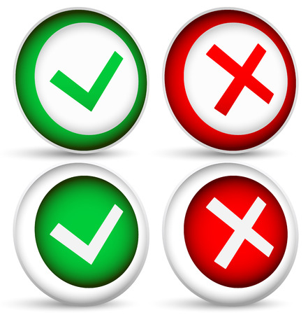 Checkmark and x concepts Vector