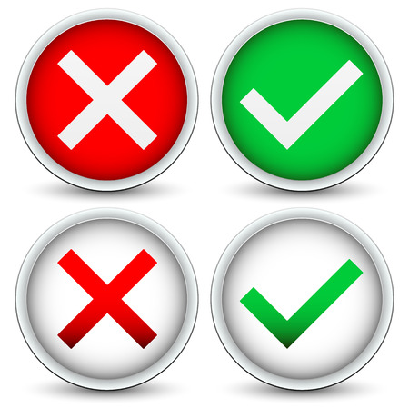 Checkmark and x concepts