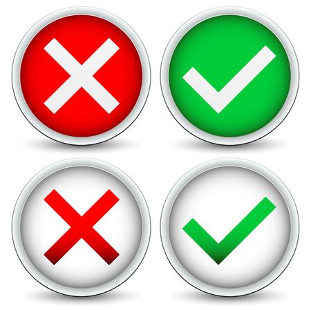 Checkmark en x concepten Stockfoto - 32773630