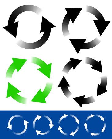 reviser: Fl�ches circulaires