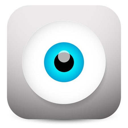 eyestrain: Modern eye app icon Illustration