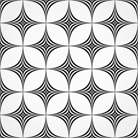 hypnotizing: Seamless pattern made of spiky, pointed shapes