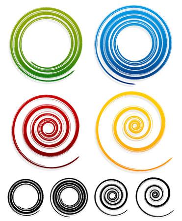 grungy: Grungy spirals Illustration