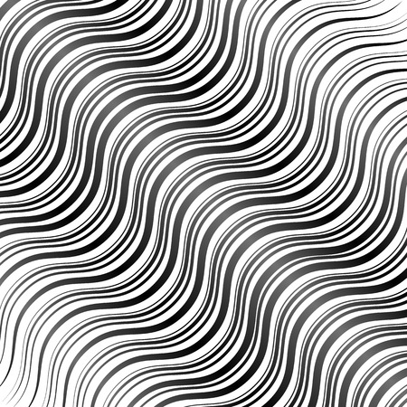 billow: Abstract wavy lines background Illustration