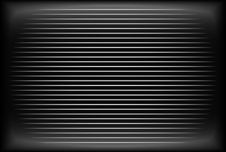 interference: Old TV screen - Analog, CRT screen without reception Illustration