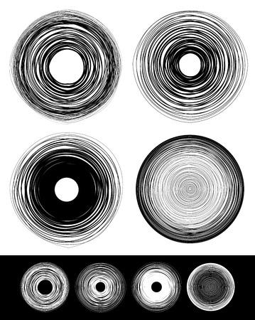 circulos concentricos: Círculos concéntricos con la deformación y el efecto