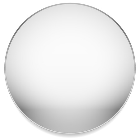 Empty, blank circle with stone like material