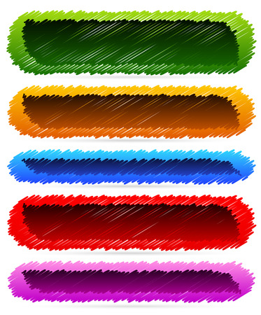 Sketchy banner backgrounds Vector