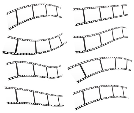 perforation tape: Filmstrips vectors for photography concept (eps10)