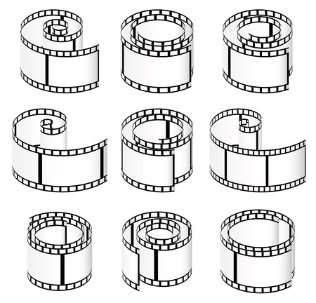 perforation tape: Filmstrips for photography concept  Illustration
