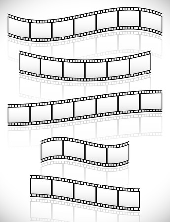 Filmstrips for photography concept