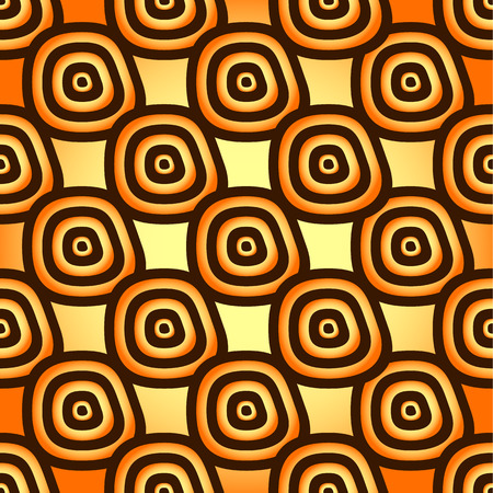 psy: Yellow-orange seamless pattern: free form shapes
