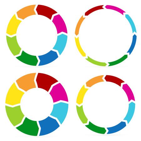 mindmap: Gr�ficos de flechas circulares con estilo