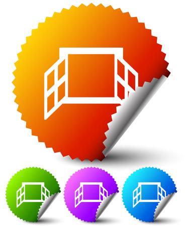 Window icon series Vector