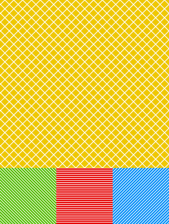 transverse: Different lines background set (gridded, diagonal and horizontal with colored background) Illustration