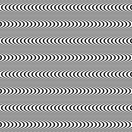 visual perception: Abstract, undulating lines. Vector background with dynamism.