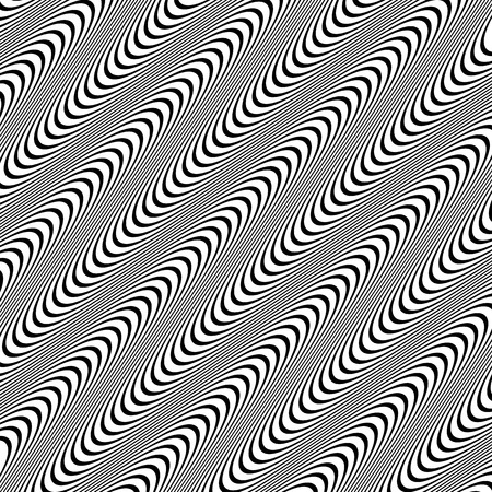 Abstract, undulating lines. Vector background with dynamism.