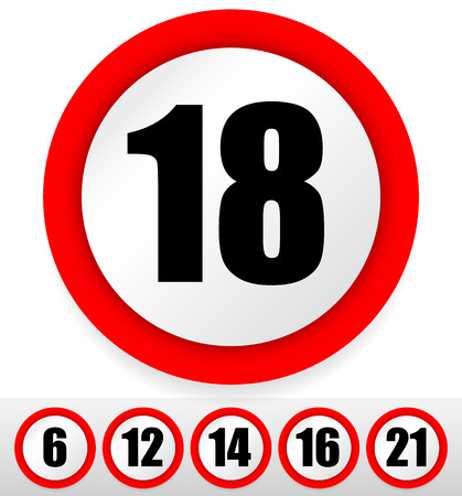 sixteen year old: Age restriction sign(s).