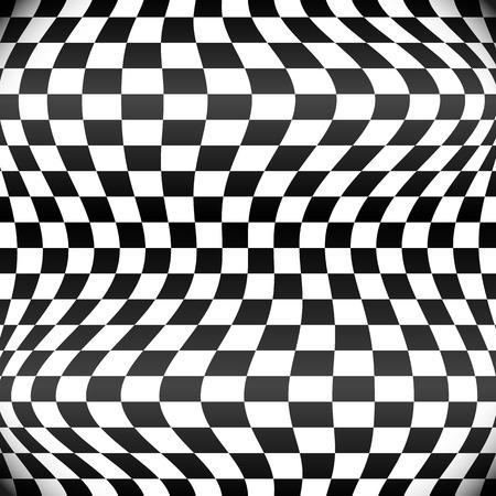 체크 무늬 패턴을 흔들며