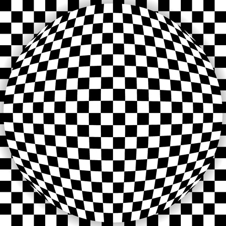 spherule: Sphere on background, checkered graphics
