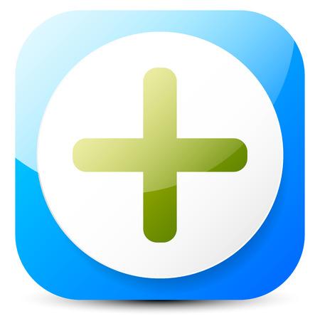 Green cross. Generic symbol, emblem, or emblem for first-aid, healthcare concepts