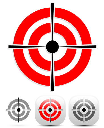 reticle: Target, crosshair icon with several variations Illustration