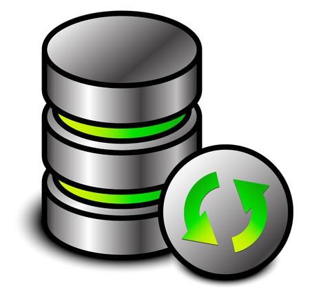 Database refresh icon Ilustração