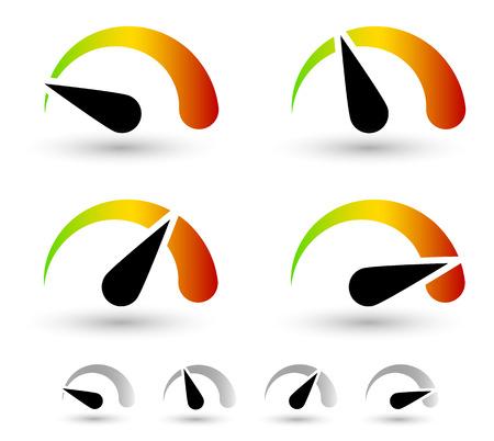 Multicolor marcar, medir elementos. indicadores de velocidad o nivel de generales