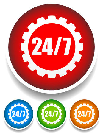 rackwheel: 247 badge for repair or manufacturing concepts.