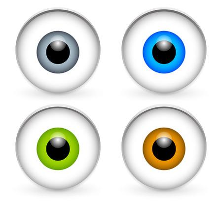Stylish eyeballs Vector