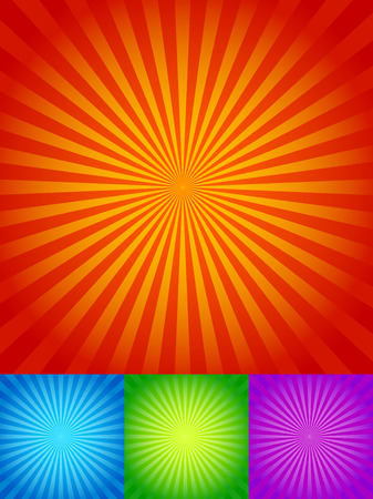 Rays or starburst backgrounds Illustration