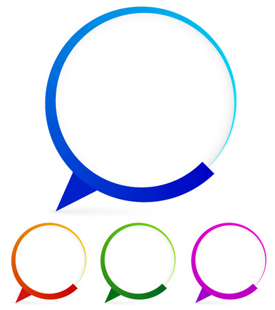 buble: Modern speech bubble shapes