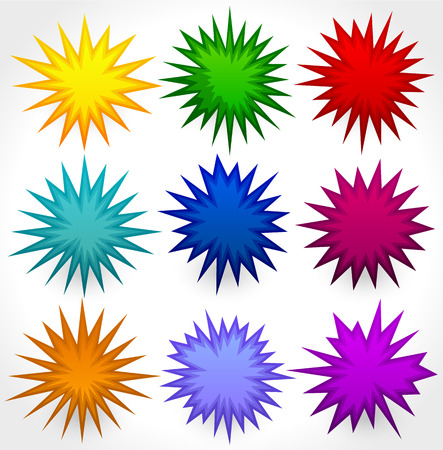 blow up: Abstract spikey shape set