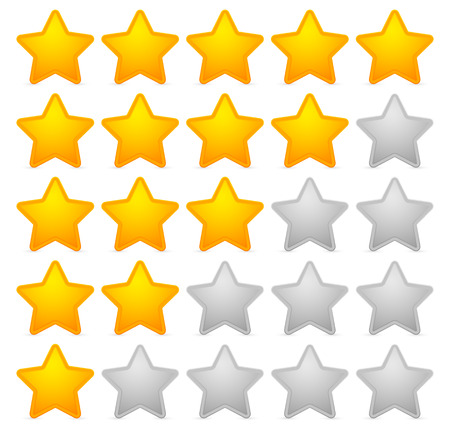 Stylish star rating template 일러스트
