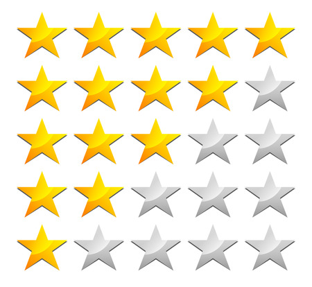 Stylish star rating template Çizim