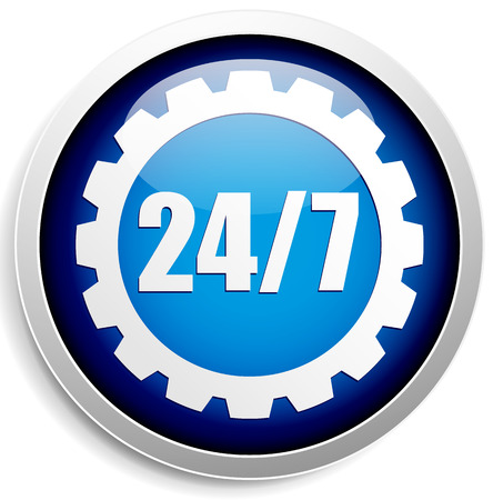 247 badge for repair or manufacturing concepts.