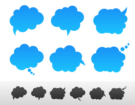 balon: Set of speech and thought bubble shapes