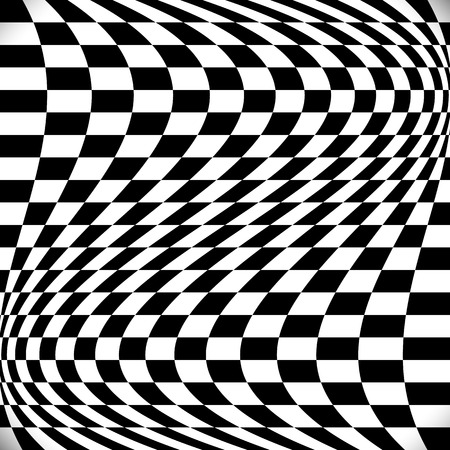 checkered background: Wavy checkered background