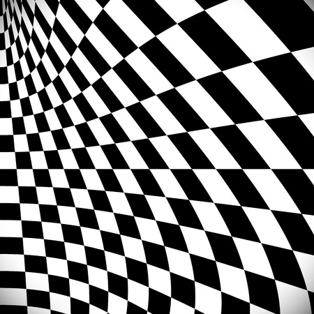 Distorted checkered surface
