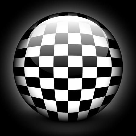 surrealistic: Glossy checkered sphere