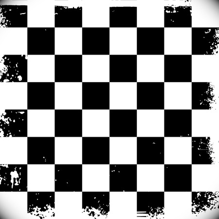 Checkered background with grungy edges Vector