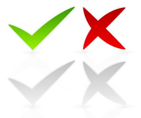 Freeform checkmark and cross set