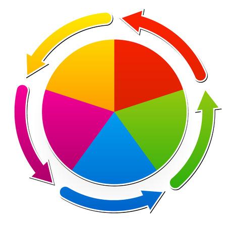 circle shape: Circular presentation  infographic element